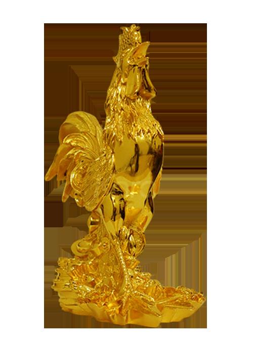 Tượng Gà đắc lộc, vượng tài mạ vàng 24K
