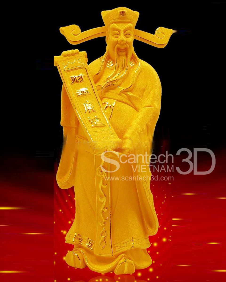 Tượng đúc đồng, mạ vàng - QTMV09