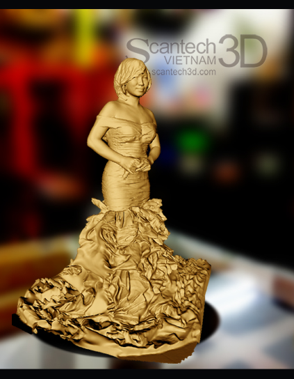 Quét 3D - In 3D cô dâu thu nhỏ