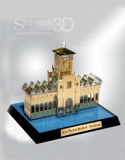Mô hình kiến trúc Chợ Bến Thành
